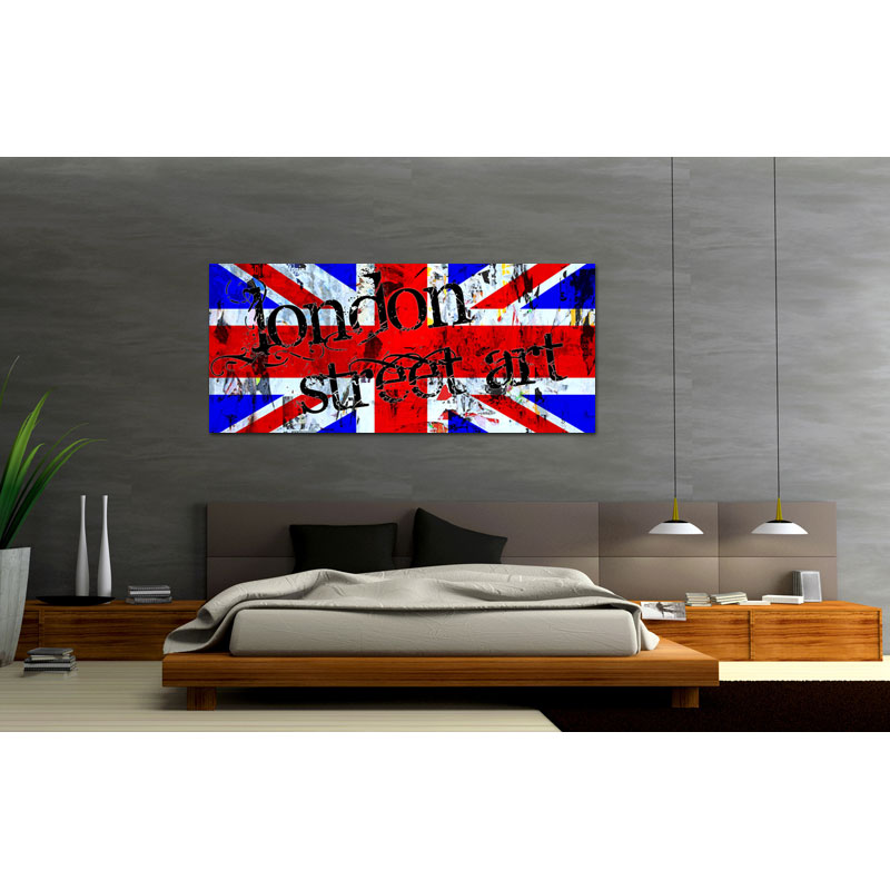 tableau london street art ang0008 tableaux d co personnalis s contemporain toiles photo agoarts. Black Bedroom Furniture Sets. Home Design Ideas