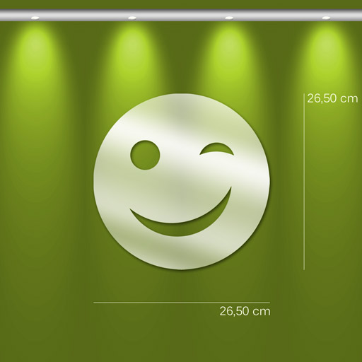 Miroir d coratif smiley clin d 39 oeil mi0120 tableaux d co for Miroirs decoratifs design