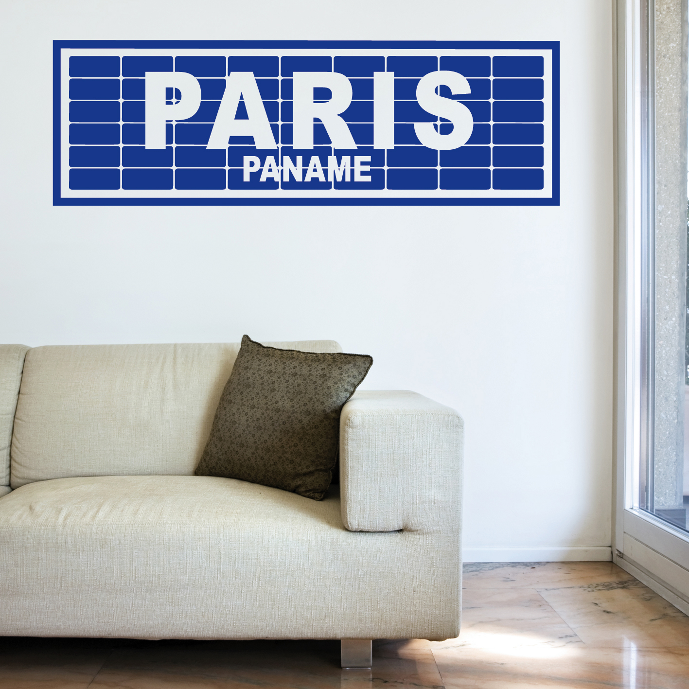 stickers paris paname sti0036 tableaux d co personnalis s contemporain toiles photo agoarts. Black Bedroom Furniture Sets. Home Design Ideas