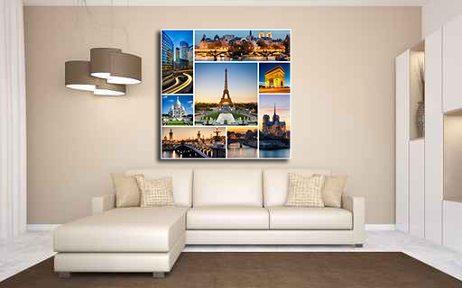 Tableau pel m le paris p0001 tableaux d co - Tableau pele mele photo ...