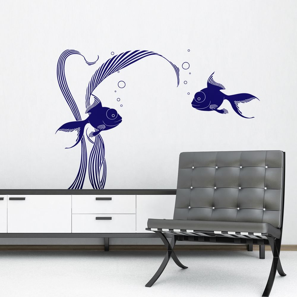 stickers les poissons sti0017 tableaux d co personnalis s contemporain toiles photo agoarts. Black Bedroom Furniture Sets. Home Design Ideas
